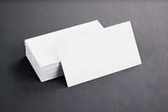 Blank Template White Business Cards On Black P2W77WC2 5c07068c4d87cdffc8b56a005d3fa997